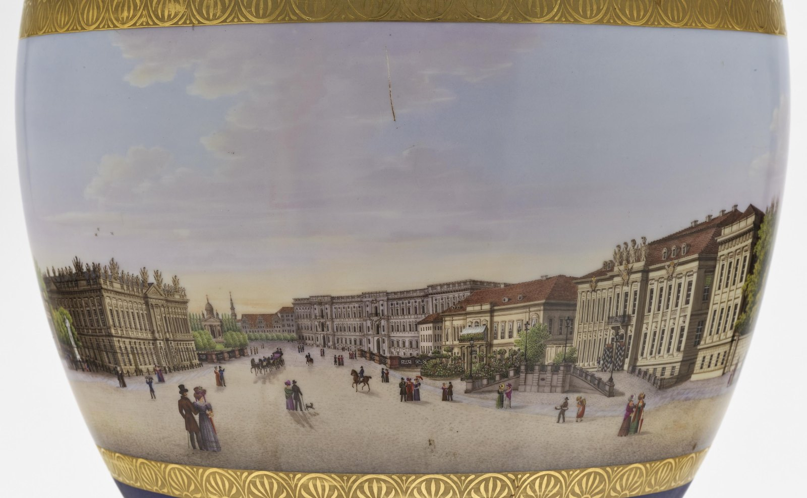"""A panoramic vase with a prospect of the street """"Unter den Linden"""" in Berlin - Image 9 of 10"""