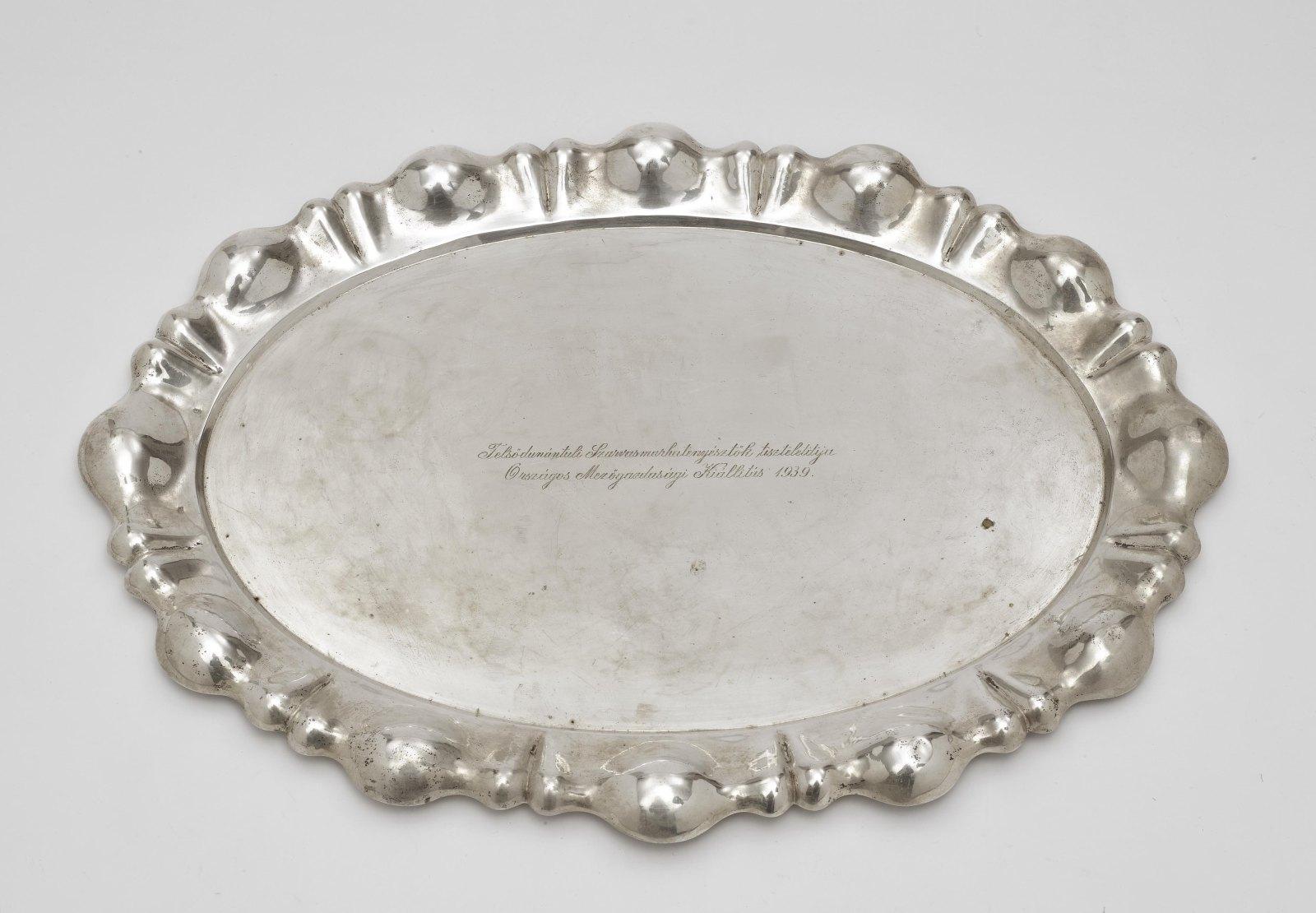 An oval platter