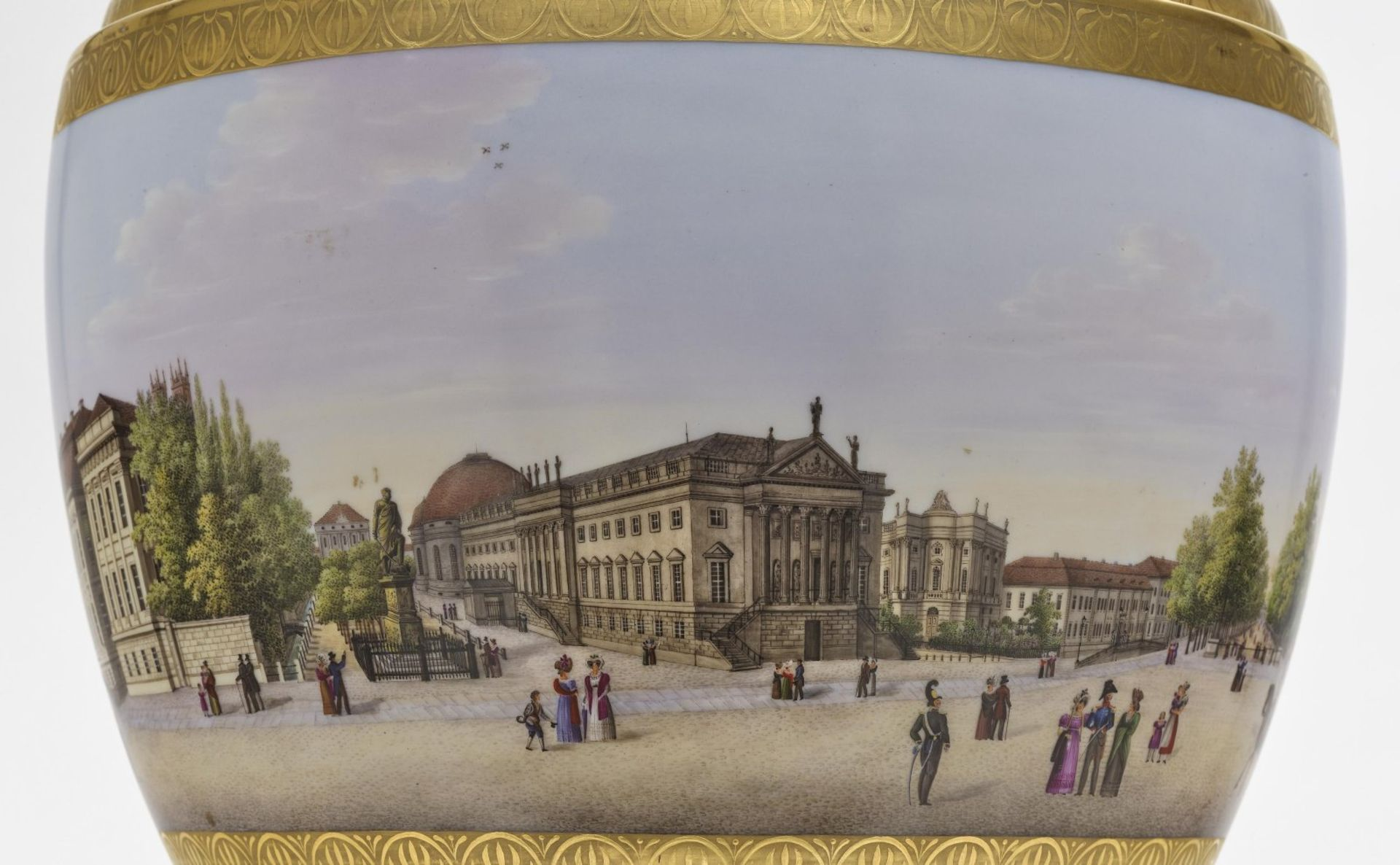 """A panoramic vase with a prospect of the street """"Unter den Linden"""" in Berlin - Bild 3 aus 10"""