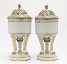 A pair of cooling vessels