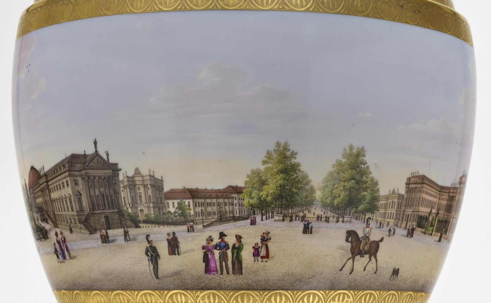 """A panoramic vase with a prospect of the street """"Unter den Linden"""" in Berlin - Image 4 of 10"""