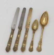 Five cutlery items