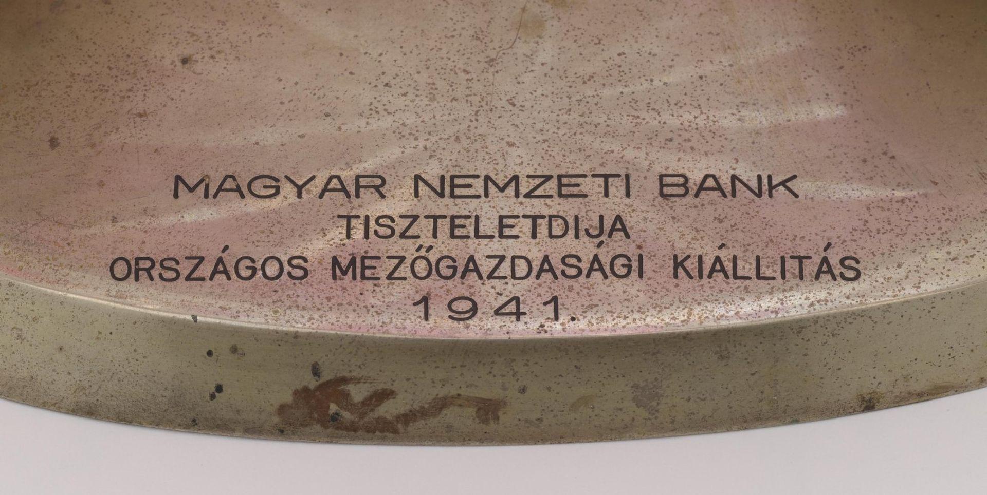 An oval crystal bowl - Bild 2 aus 2