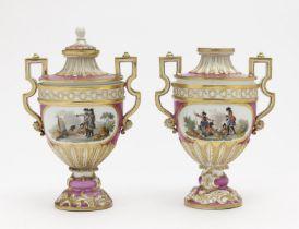 A pair of decorative vases