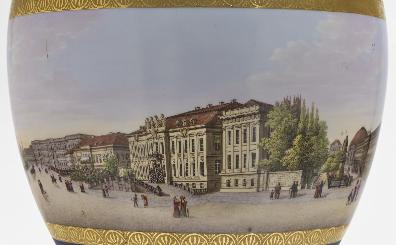 """A panoramic vase with a prospect of the street """"Unter den Linden"""" in Berlin - Image 10 of 10"""