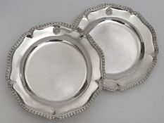 """Two round platters from the so-called """"Bamberg Service"""" ATTENTION Lot 3-6 will be sold after lot 67"""