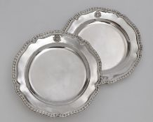 """Two plates from the so-called """"Bamberg Service"""""""