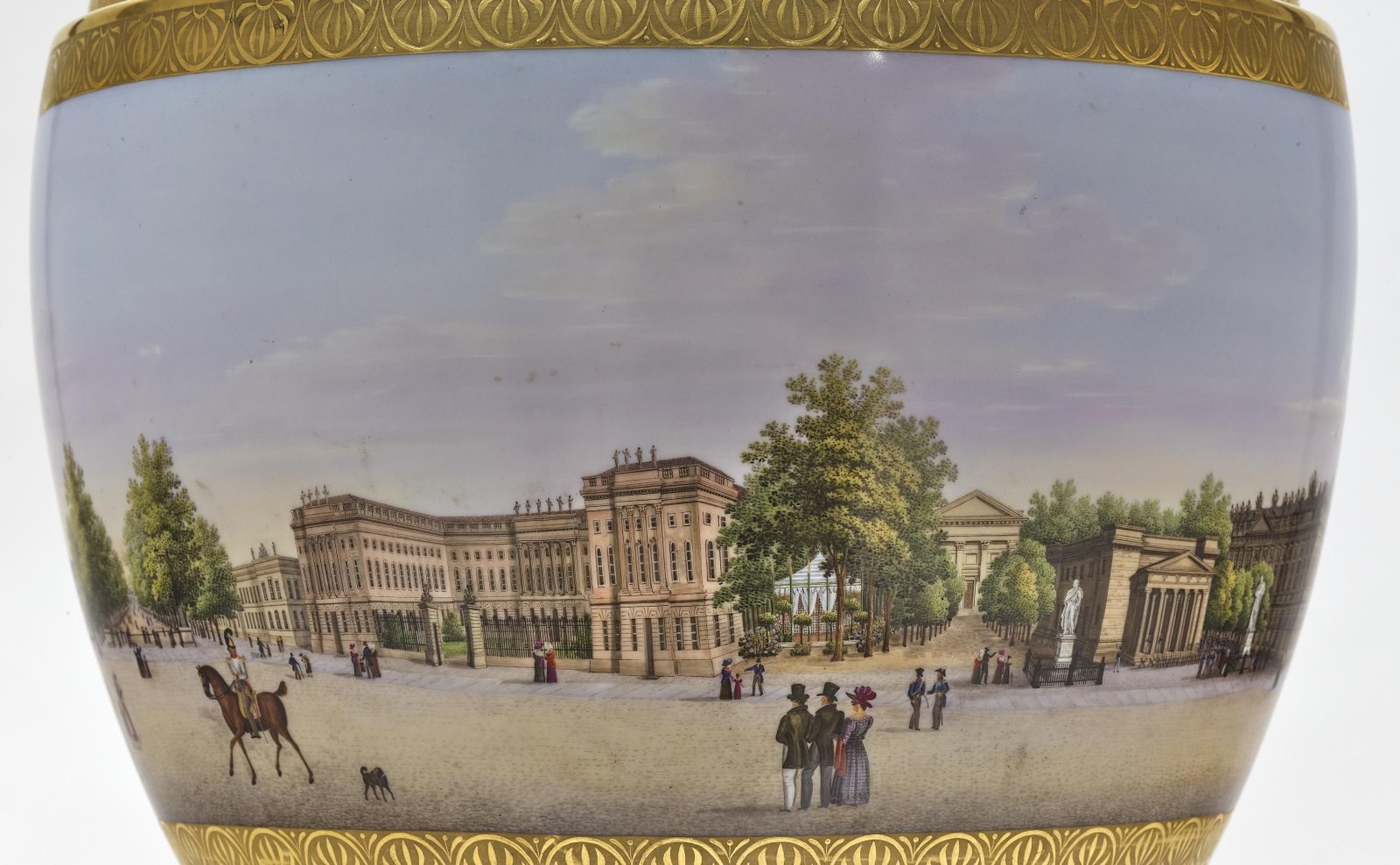 """A panoramic vase with a prospect of the street """"Unter den Linden"""" in Berlin - Image 6 of 10"""