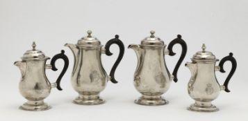 Four demitasse coffee pots
