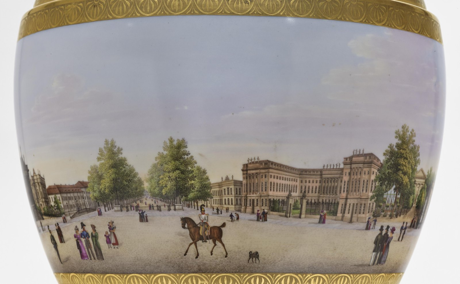 """A panoramic vase with a prospect of the street """"Unter den Linden"""" in Berlin - Image 5 of 10"""