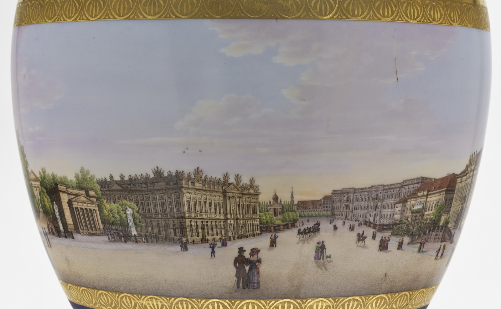 """A panoramic vase with a prospect of the street """"Unter den Linden"""" in Berlin - Image 8 of 10"""