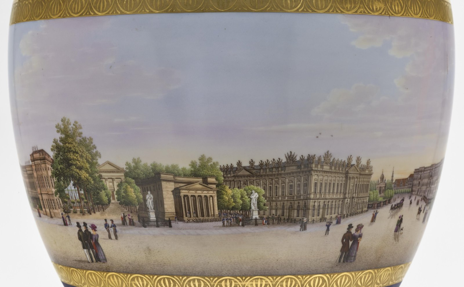"""A panoramic vase with a prospect of the street """"Unter den Linden"""" in Berlin - Image 7 of 10"""