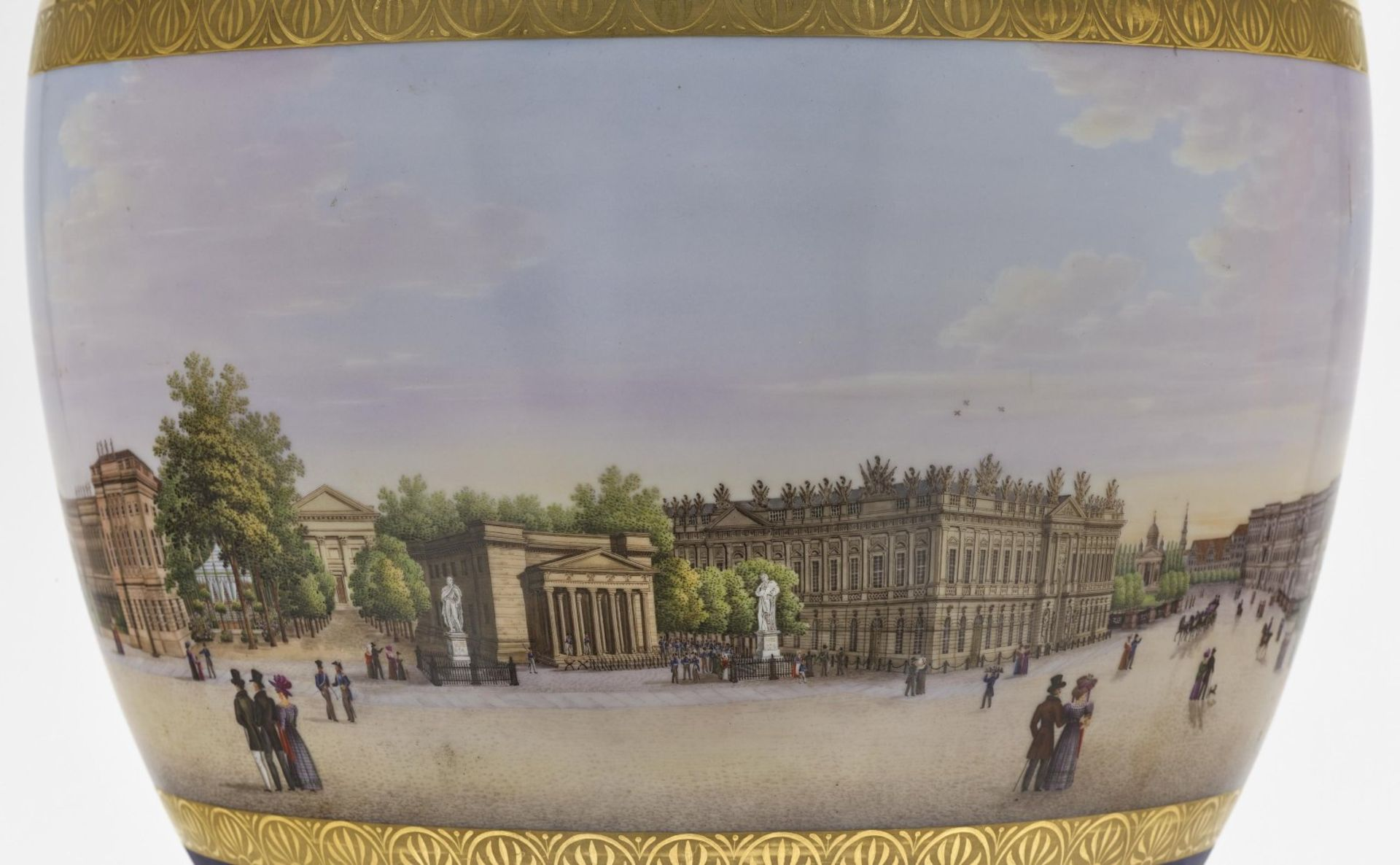 """A panoramic vase with a prospect of the street """"Unter den Linden"""" in Berlin - Bild 7 aus 10"""