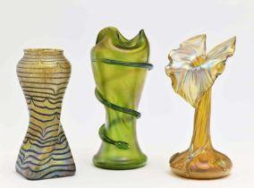 Drei Jugendstil-Vasen