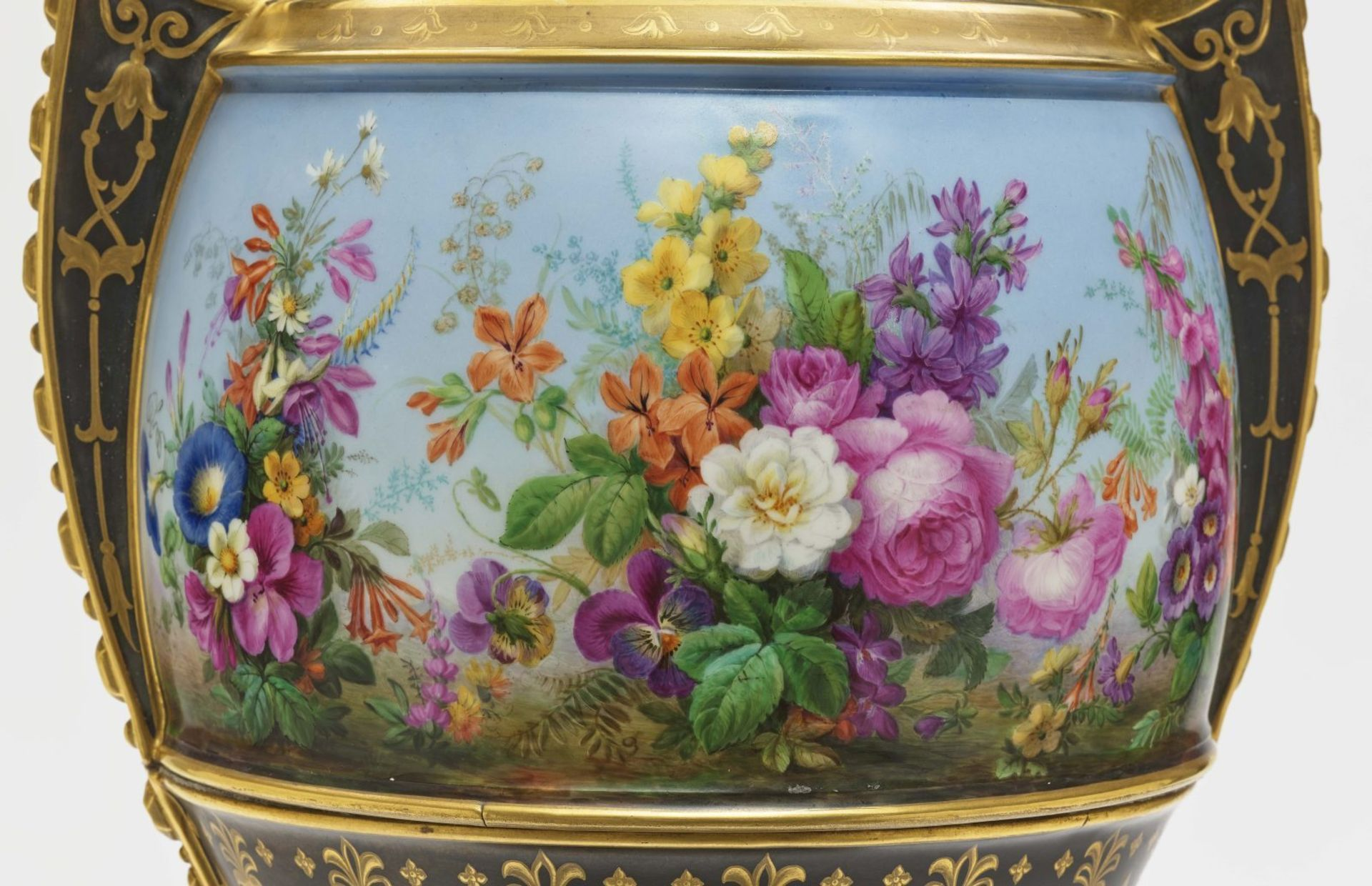 "Dreiteiliger ""Persischer"" Vasensatz mit ""fleurs en terrasse""-Dekor - Image 14 of 15"