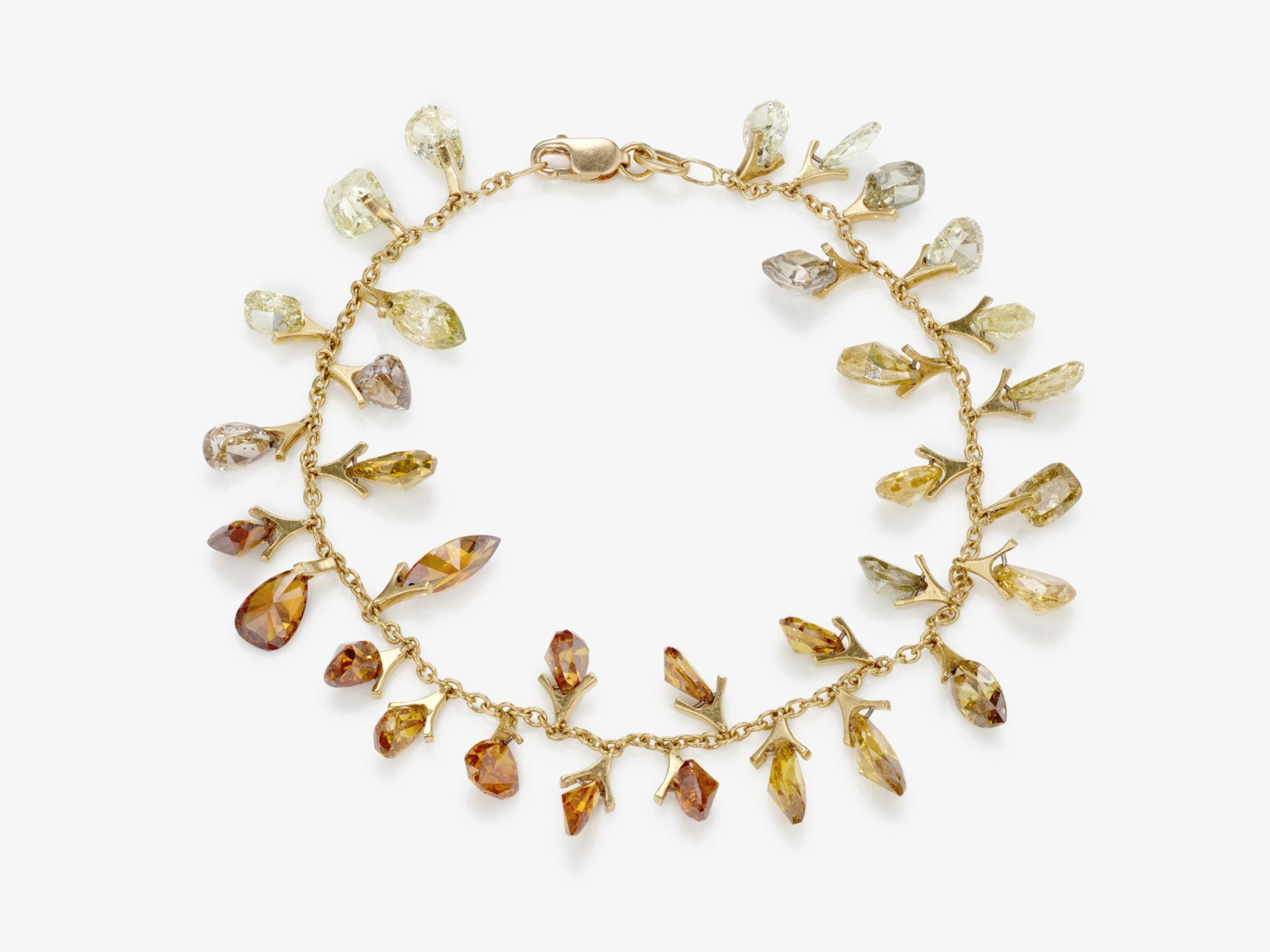 Exquisites vielfarbiges Diamantenarmband