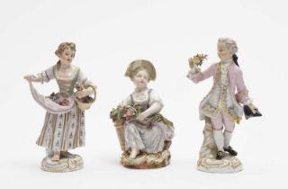 Kavalier und zwei Gärtnerkinder