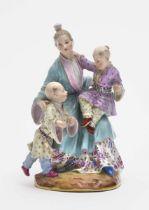 Japanerin mit Kindern