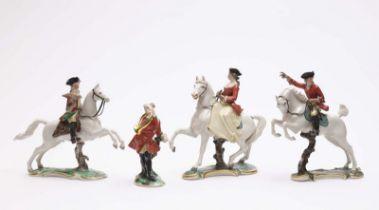 Vier Figuren aus der Nymphenburger Jagd