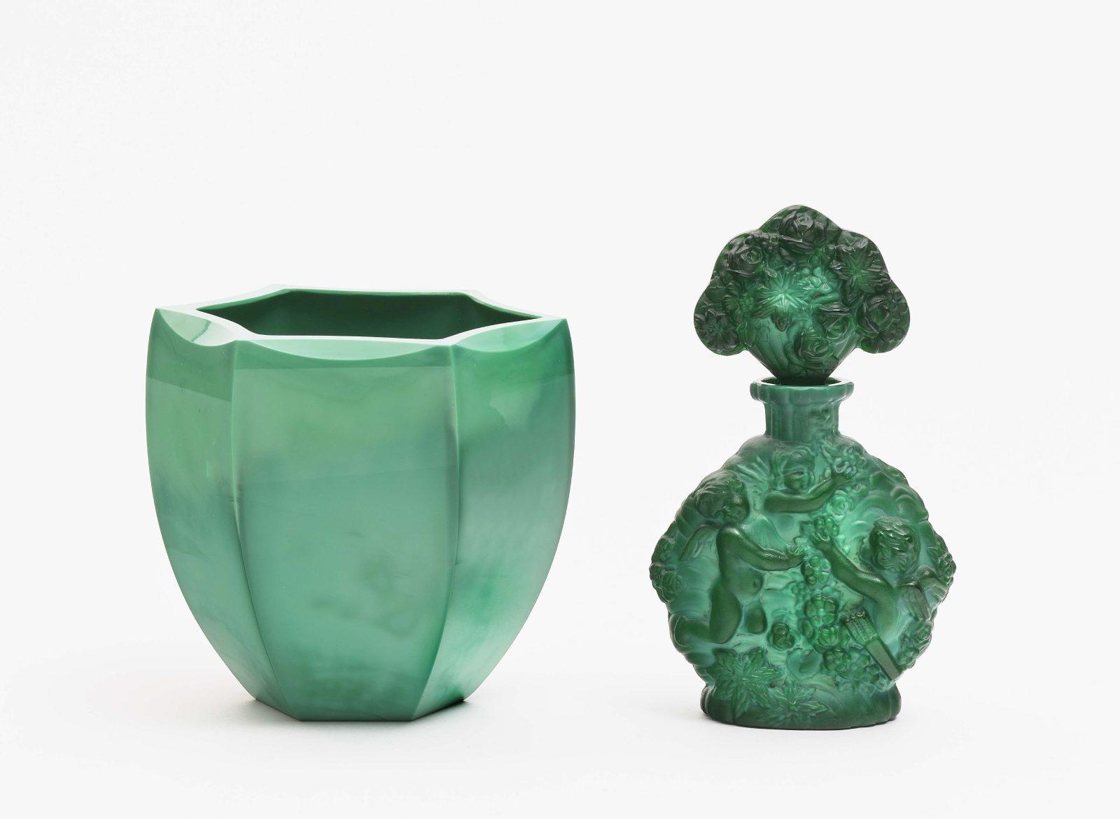 Flakon und Vase