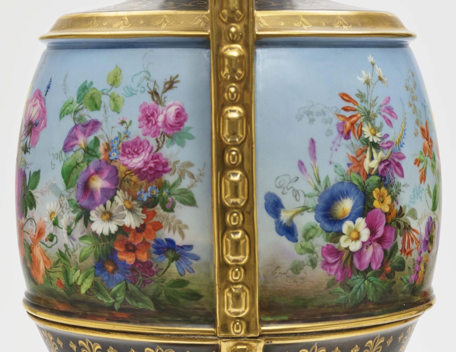 "Dreiteiliger ""Persischer"" Vasensatz mit ""fleurs en terrasse""-Dekor - Image 13 of 15"