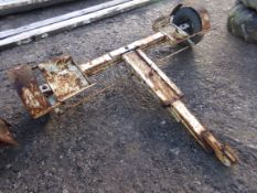 CAR TOWING AXLE