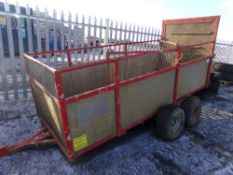 TWIN AXLE QUAD SHEEP TRAILER (NO VAT)