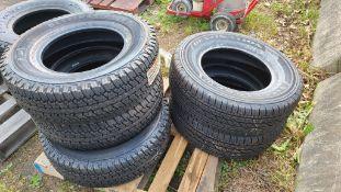 (5) 245/70/16 tires