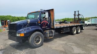 1999 International 2674 Flatbed With Forklift