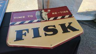 Vintage fisk tire sign