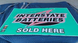 Interstate Batteries Metal Sign