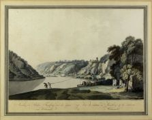 Ziegler, Johann. 1749 Meiningen - Wien 1812 Ansicht des Schlosses Thurnberg und der Gegend um Welmen