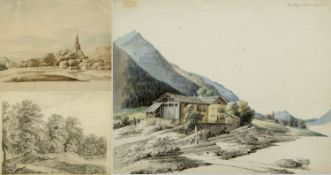 Kunkler, Adolf. 1792 - Gnadenberg bei Bunzlau - 1866 Andreas Hofers Haus in Tyrol. Schandau im Herbs