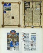 Frankreich, 20. Jh. Kopie eines Blattes aus einem Stundenbuch (?) mit der Darstellung des Mont Saint