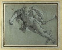 Italien, Ende 18. Jh. Hermes. Bleistift- und Kreidezeichn. 38 x 48 cm.