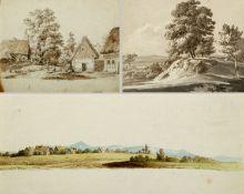 Kunkler, Adolf. 1792 - Gnadenberg bei Bunzlau - 1866 Loswitz. Landschaften. Gebirgsbach. 1 braun lav