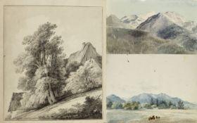 Kunkler, Adolf. 1792 - Gnadenberg bei Bunzlau - 1866 Stofs bei Gais. Tillendorf. Gebirge am Kochler