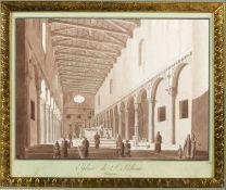 Uggeri, Angelo. 1754 - 1837. Zugeschrieben Eglise de S. Sabine Interieur. Braun lavierte Tuschfederz