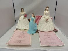 Royal Worcester porcelain figures - A day to Remember, Anniversary figurine 1998, with promotional