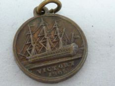 Horatio Nelson interest - a British & Foreign Sailor's Society commemorative medallion - cast with a