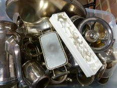 A quantity of silver plate, many items tea and coffee wares