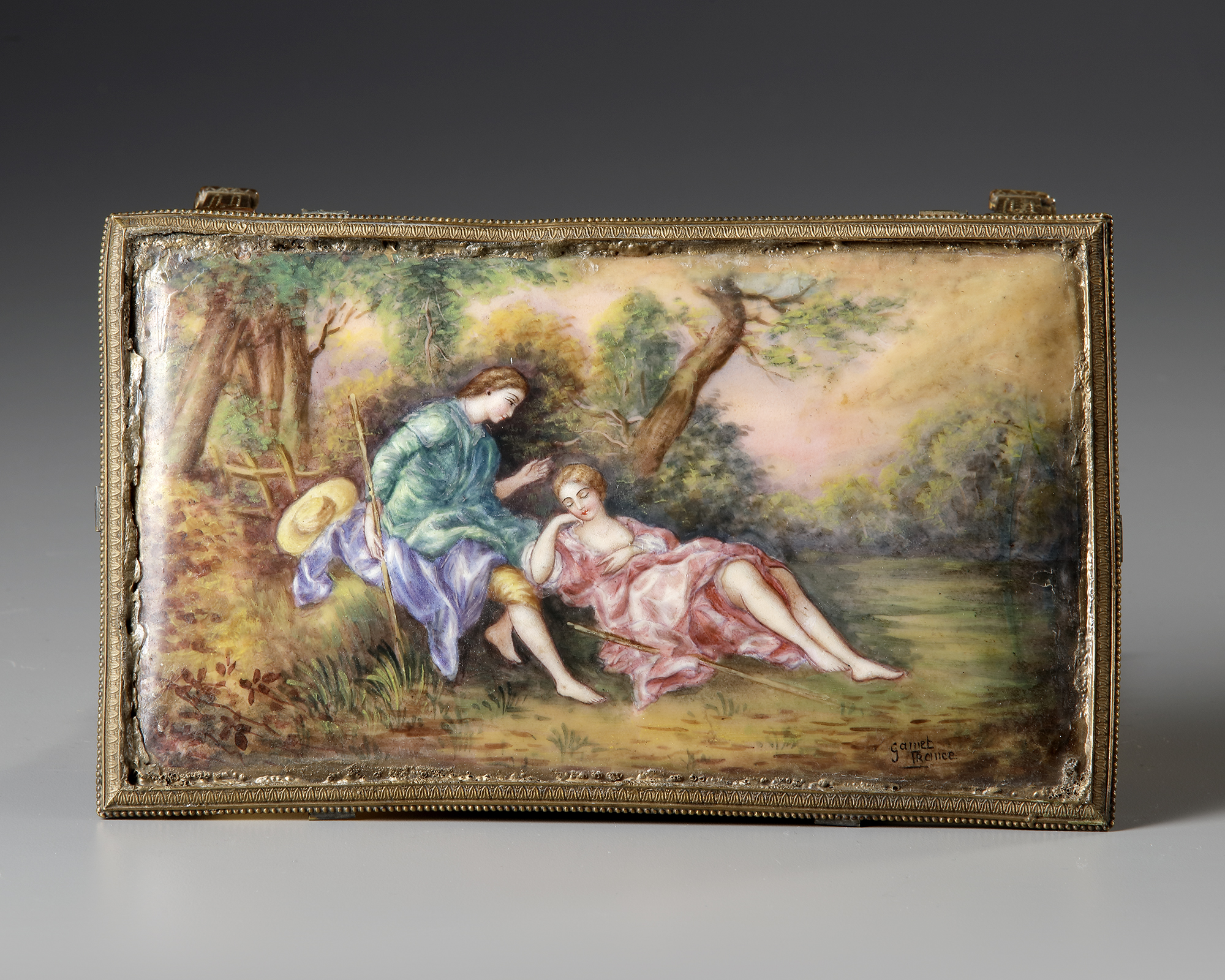 AN AUSTRIAN ENAMEL MINIATURE TABLE WITH PERFUME VIAL, LATE 19TH CENTURY - Image 3 of 5