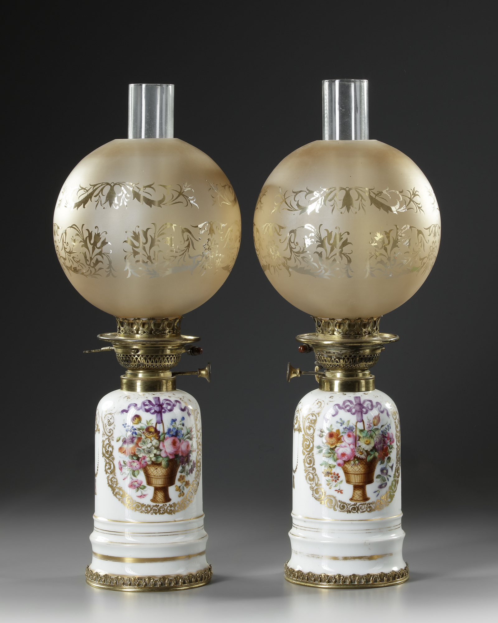 A PAIR OF WHITE PORCELAIN LAMPS, LATE 19TH CENTURY