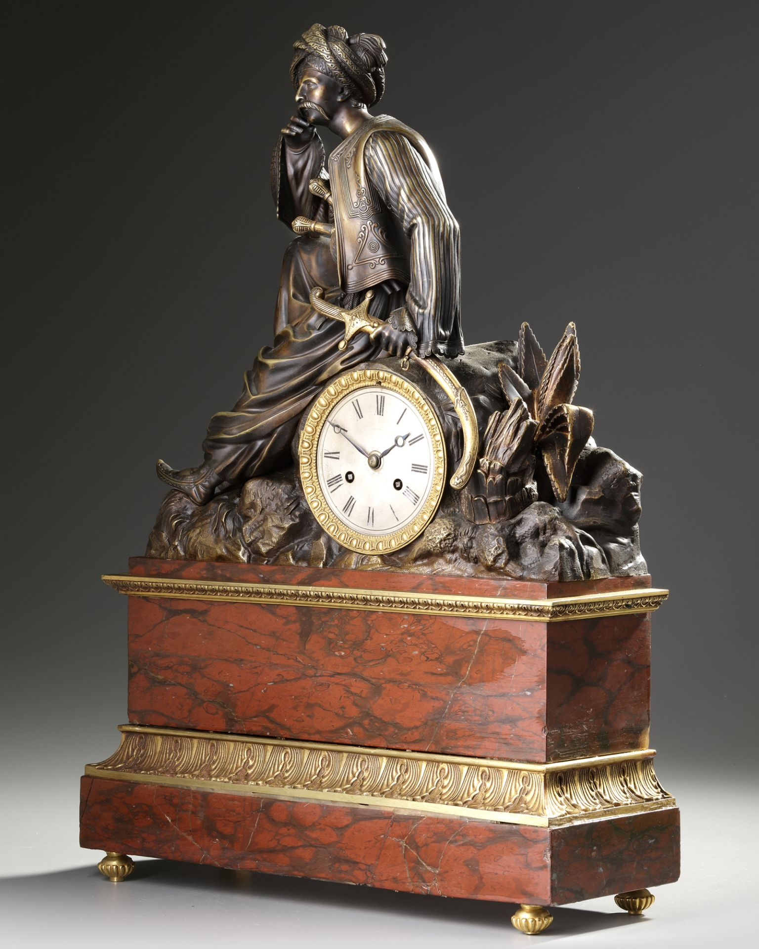 AN ORIENTALIST CLOCK, FRANCE, 19TH CENTURY - Image 2 of 5