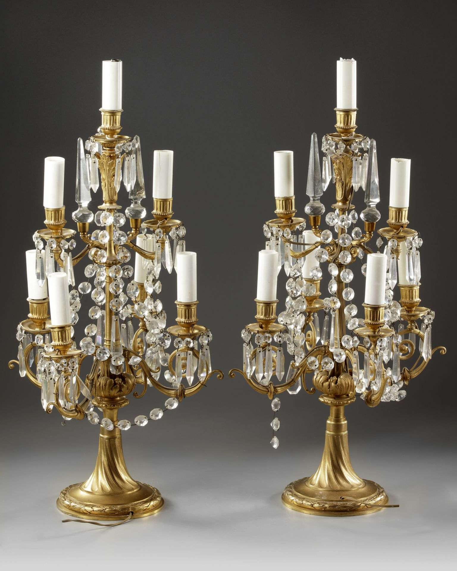 A PAIR OF FRENCH GIRANDOLES, LATE 19TH CENTURY - Image 2 of 2