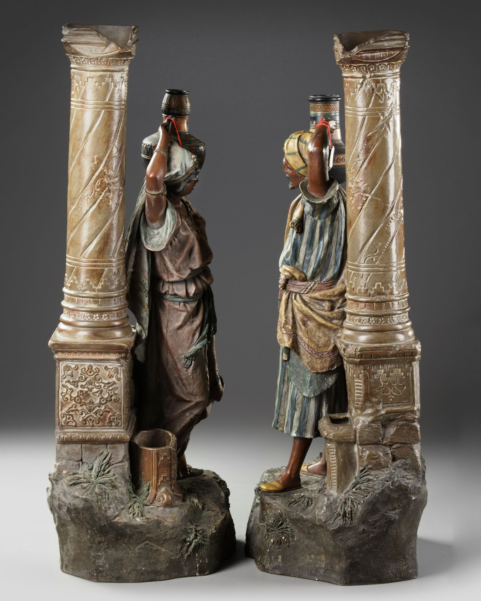 A PAIR OF AUSTRIAN 'ORIENTAL SCHOOL' STATUES, LATE 19TH CENTURY - Image 4 of 5