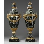 A PAIR OF MARBLE CASSOLETTES, FRANCE, 19TH CENTURY