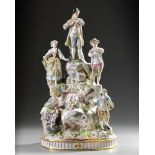 A PORCELAIN GROUP OF FIGURES, 19TH CENTURY