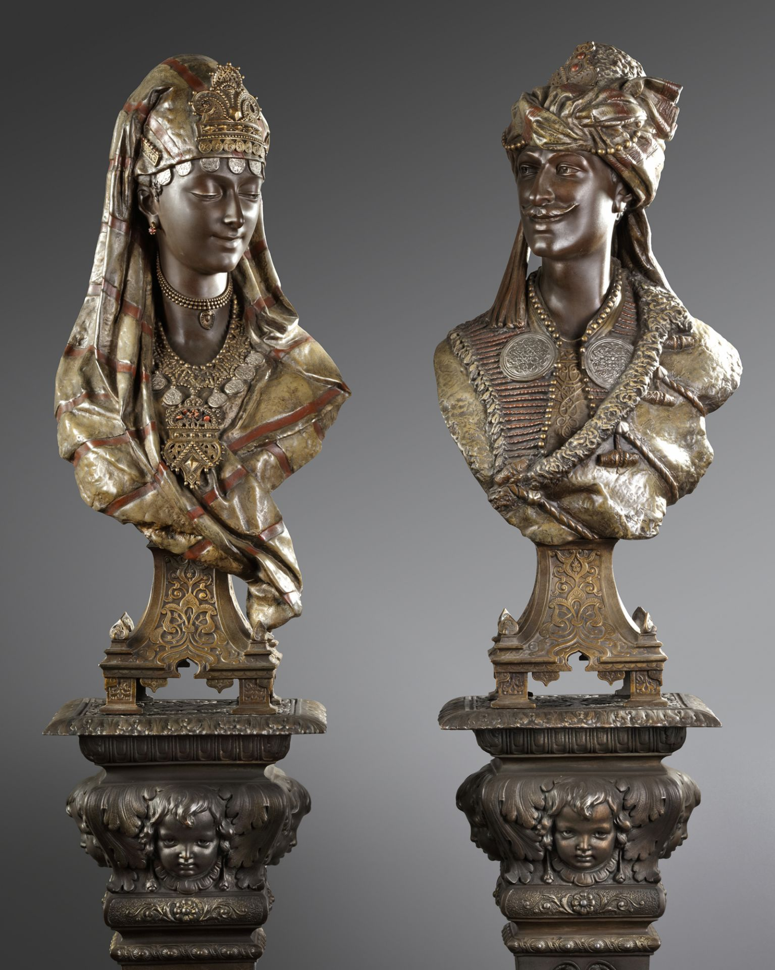 A PAIR OF BUSTS AFTER L. HOTTOT, LATE 19TH CENTURY - Image 3 of 5