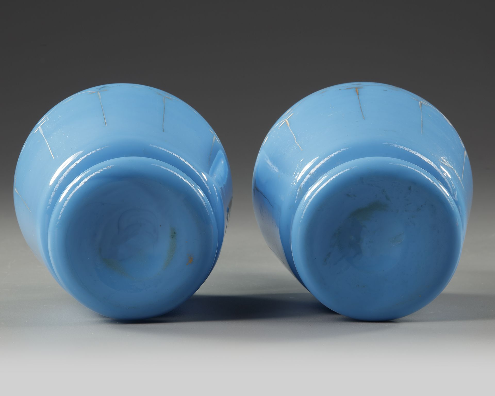 A PAIR OF OPALINE CARAFES, LATE 19TH CENTURY - Image 4 of 4